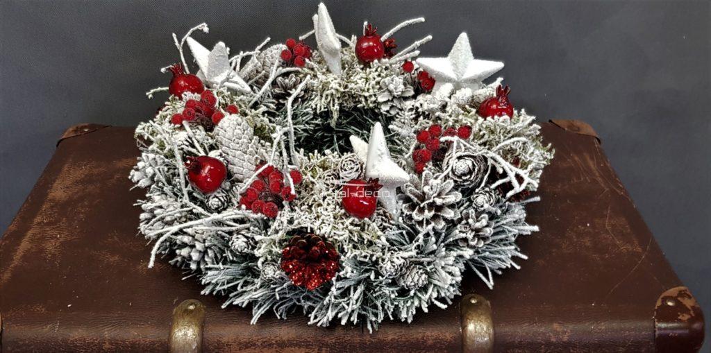 wianek bożonarodzeniowy-nowoczesne dekoracje świąteczne