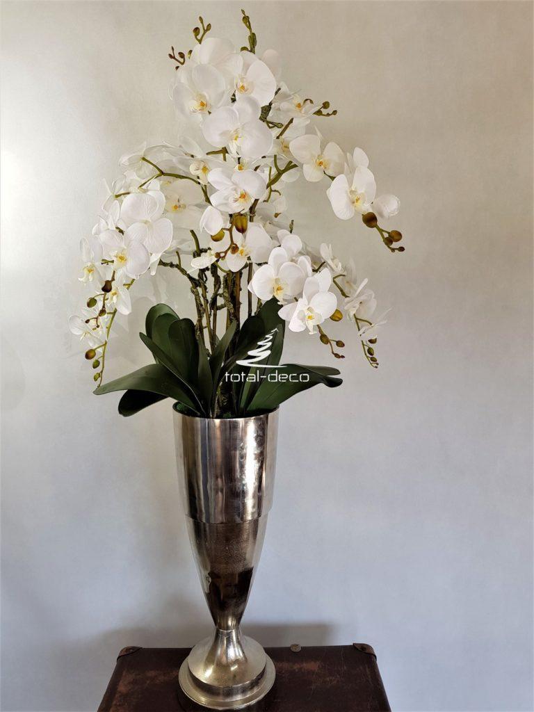 ekskluzywne białe storczyki sztuczne