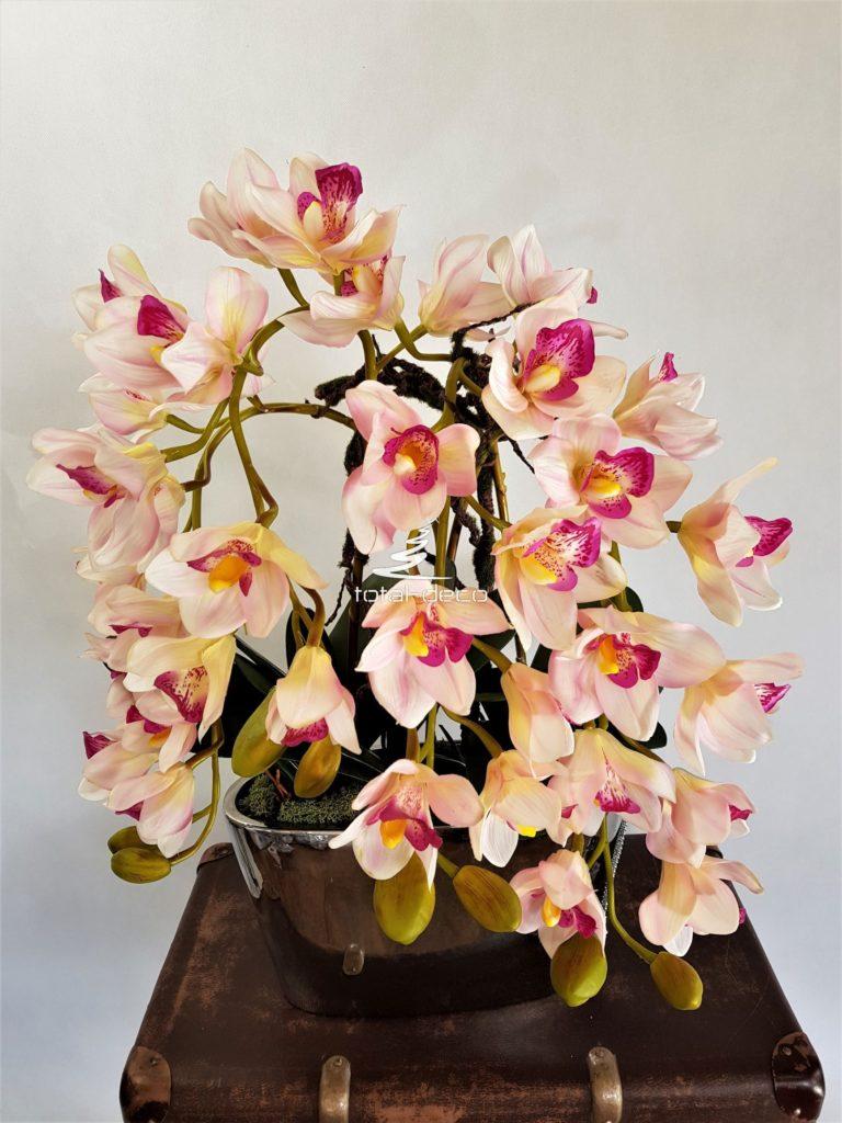 sztuczna orchidea kompozycja w doniczce
